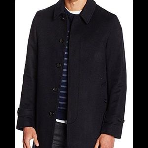 Burberry Men's Roeford Coat Navy Size 46